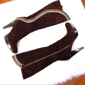 Carlos Woman's Brown Leather Ingenue Boots 9.5 M